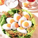 Osterrezept: süße Osterkuchen mit einem Backpulverteig