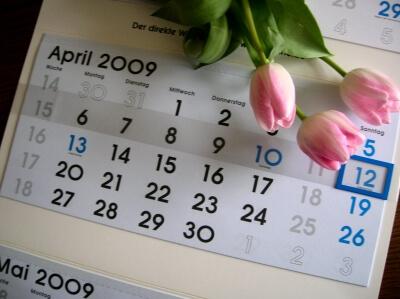 Kalender April 2009 (c) Romy2004 / pixelio.de