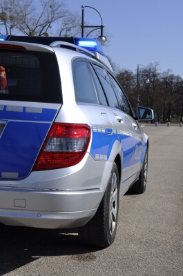 Verkehr | Polizist auf dem Motorrad (c) Anne Garti / pixelio.de