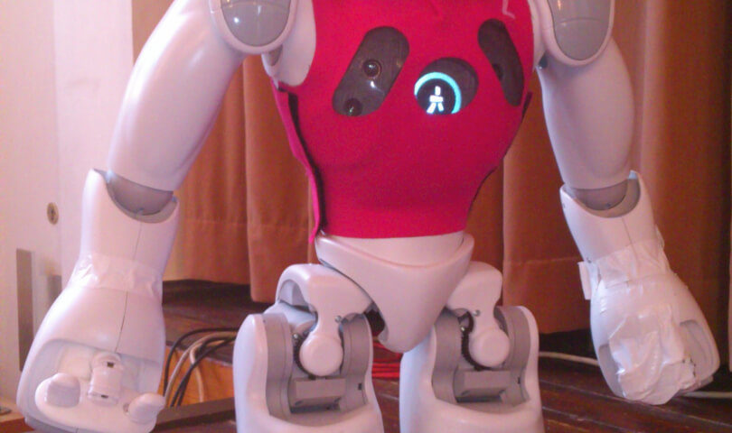 Nao Roboter zum MINT Tag im neuen Rathaus Leipzig (c) familienfreund.de